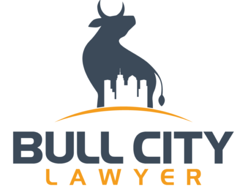 A logo of the Bull City Lawyer office